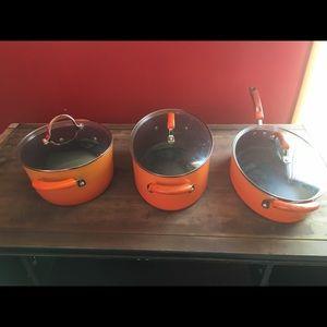 COPY - Rachel ray three-piece cookware set.